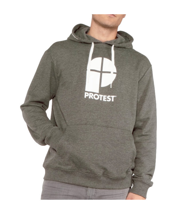 Protest Classic Logo Hoody Gravel Green