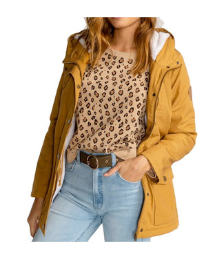 Billabong Facil Iti Coat Jacket Antique Gold