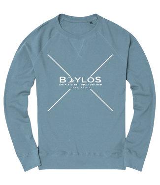 Boylo's Mens Boylo's Premium X Co-ord Jumper Stone Blue