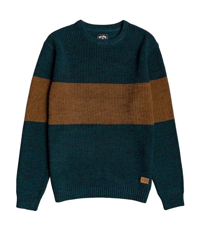 Billabong Tribong Sweater Jumper Deep Teal