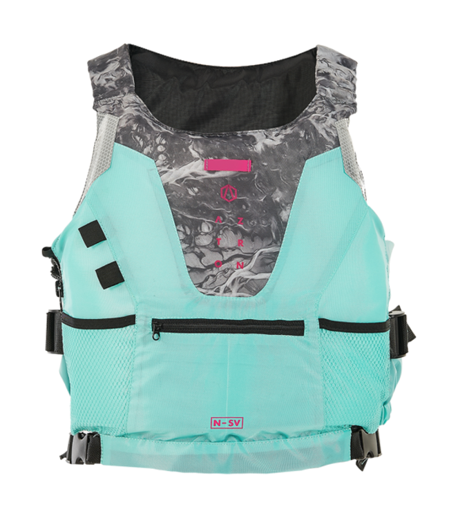 Aztron Womens Nylon Safety Vest BA - Aqua
