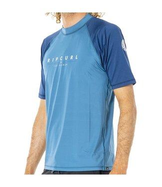 Ripcurl Shockwaves S/S Rash Vest Blue