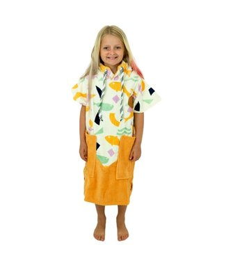 All-In V Junior Changing Robe Poncho Fishbird/Melon