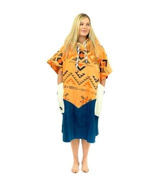 All-In V-Bumpy Changing Robe Poncho Indian/Marine/Ecru