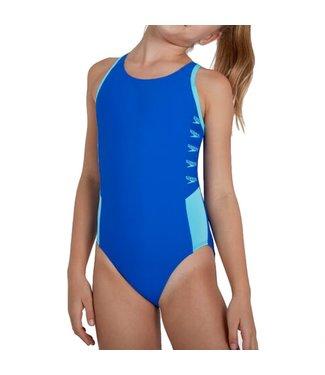 Speedo Youth Boom Splice Swimsuit Blue/Blue