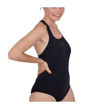 Speedo Womens Endurance Medalist Swimsuit - Black