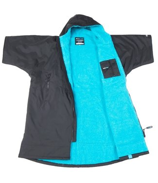 Dryrobe Dryrobe Advance Adult Short Sleeve Black Blue