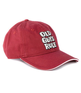 Old Guys Rule Stacked Logo Cap - Red