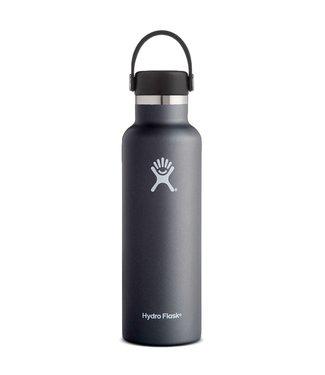 Hydro Flask 21 Oz Standard Mouth with Flex Cap Water Bottle Black