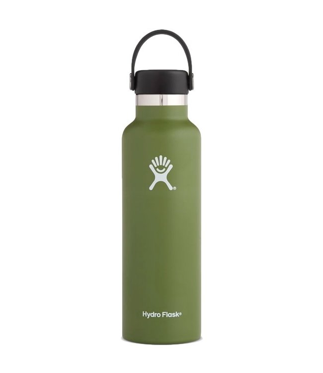 Hydro Flask 21 Oz Standard Mouth with Flex Cap Water Bottle Olive