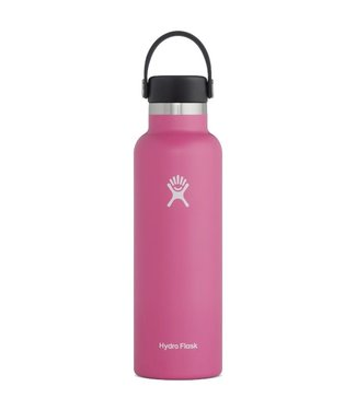 Hydro Flask 21 Oz Standard Mouth with Flex Cap Water Bottle Carnation