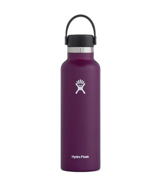 Hydro Flask 21 Oz Standard Mouth with Flex Cap Water Bottle Eggplant