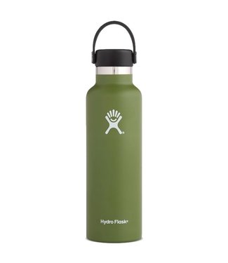 Hydro Flask 24 Oz Standard Mouth with Flex Cap Water Bottle Olive
