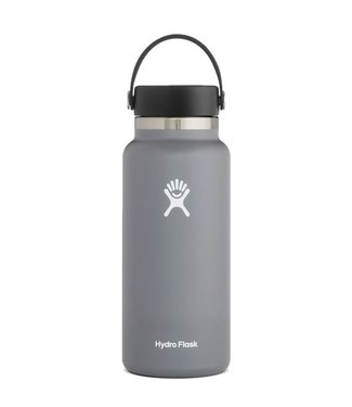 Hydro Flask 32 Oz Wide Mouth with Flex Cap Water Bottle Stone