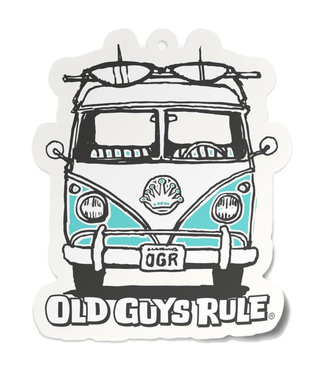 Old Guys Rule Good Vibes Air Freshener - Turquoise
