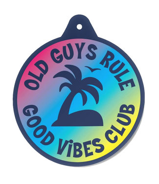 Old Guys Rule Good Vibes Club Air Freshener
