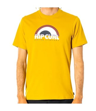 Ripcurl Surf Revival Decal T-Shirt Mustard