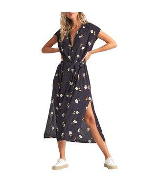 Billabong Little Flirt Dress Black Floral