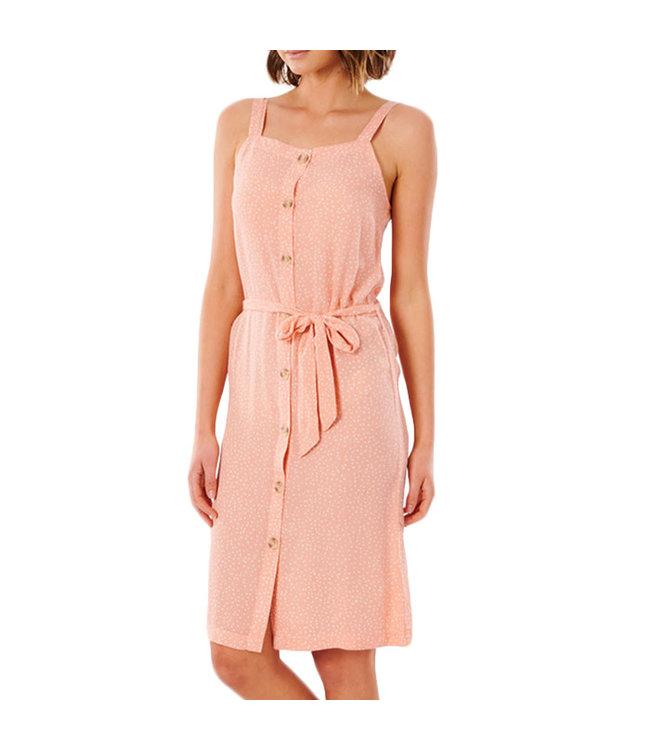 Ripcurl Tallows Spot Midi Dress Coral
