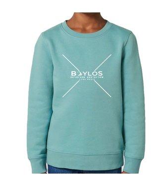 Boylo's Kids X Co-ord Sweatshirt - Teal Monstera