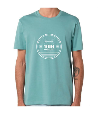 Boylo's Boylo's 10 Year Anniversary T-Shirt Teal Monstera