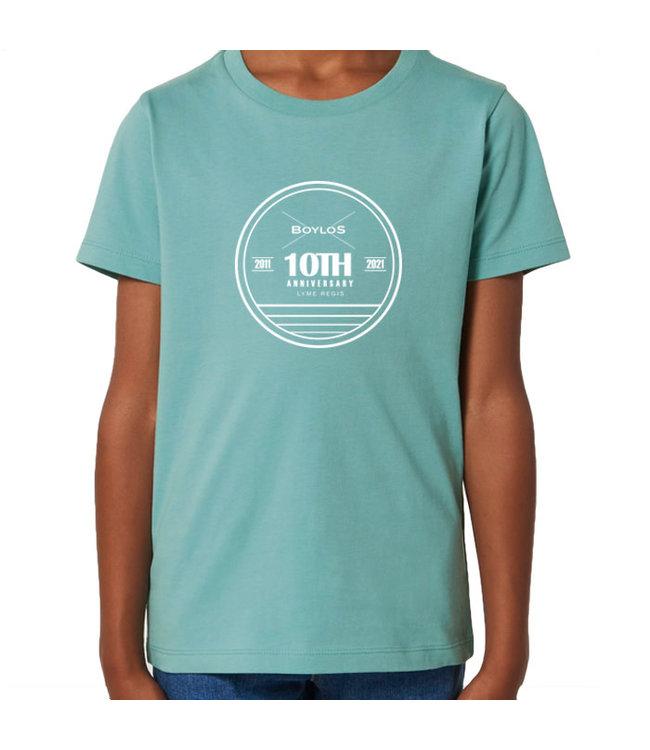Boylo's Kids Boylo's 10 Year Anniversary T-shirt Teal Monstera