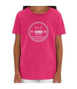 Boylo's Kids Boylo's 10 Year Anniversary T-shirt Raspberry