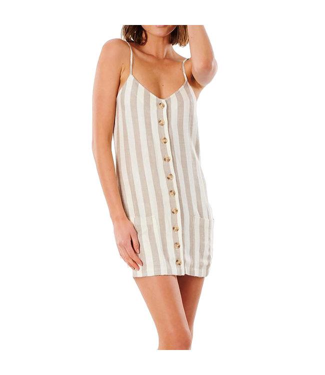 Ripcurl Ashore Mini Dress Taupe
