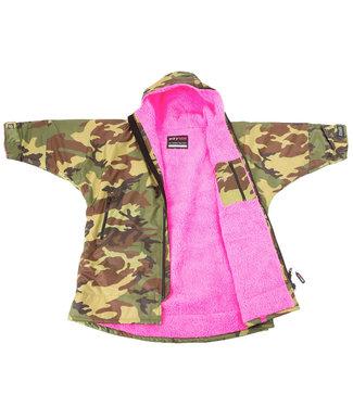 Dryrobe Dryrobe Advance Long Sleeve Youth Camo/Pink
