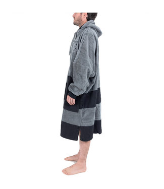All-In Long Sleeve Changing Robe Poncho Black Charcoal