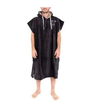 All-In Changing Robe Poncho Black Silver