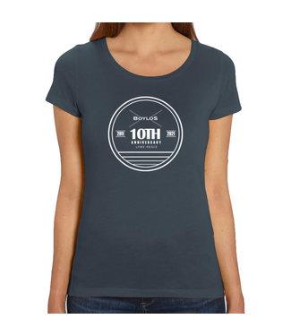 Boylo's Womens Boylo's 10 Year Anniversary T-Shirt India Ink Grey