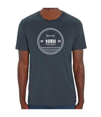 Boylo's Boylo's 10 Year Anniversary T-Shirt India Ink Grey