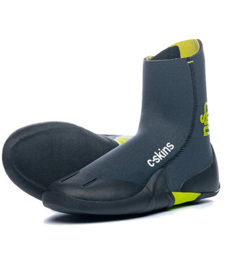 C-Skins Youth Legend 3.5mm Zipped Wetsuit Boots Flash Green