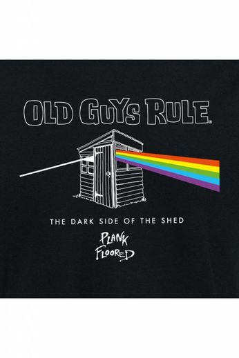 Old Guys Rule Dark Side Of The Shed T-Shirt