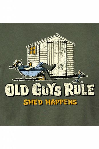 Old Guys Rule Shed Happens II -T-Shirt