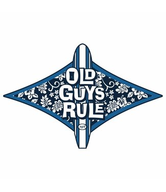 Old Guys Rule Surf Icon Decal Sticker