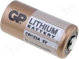 Batería de litio CR123A 3 voltios