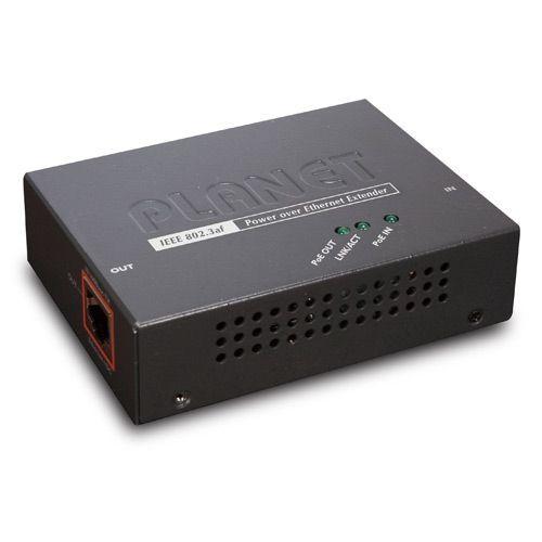 Power over Ethernet Extender. 100/200 / 300M extensor, 100 Mbits / s, norma PoE. O Planeta PoE Extender fornece uma solução quando a fiação do interruptor para a câmera IP excede 100m. Ao colocar esta tabela depois de 100m, um afsta total de ...