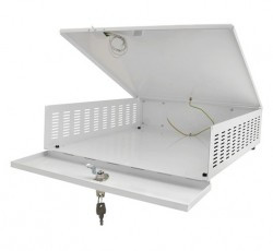 AWO447 DVR sicuro con dimensioni ridotte ventilatore sicurezza interna: b395xh100xd430mm esterna: b405xh120xd435mm