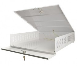 AWO471 DVR segura abóbada grande fã com o tamanho interno: b545xh125xd570mm, externo: b555xh145xd575mm para proteger o seu gravador de disco rígido por exemplo, sua câmera.