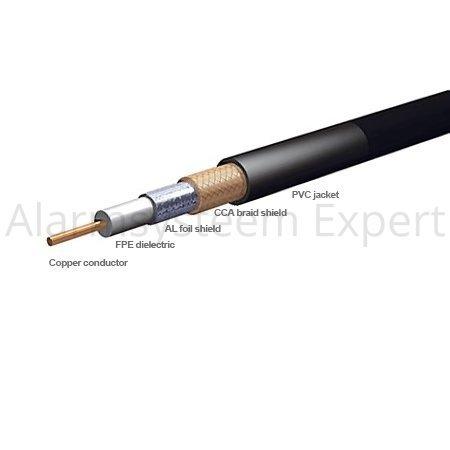 folha RG59 blindado cabo coaxial 100 metros de cabo coaxial RG59 (blindado com folha) Perfeito para colocação de produtos de CFTV, cinema em casa, etc. qualidade Professional