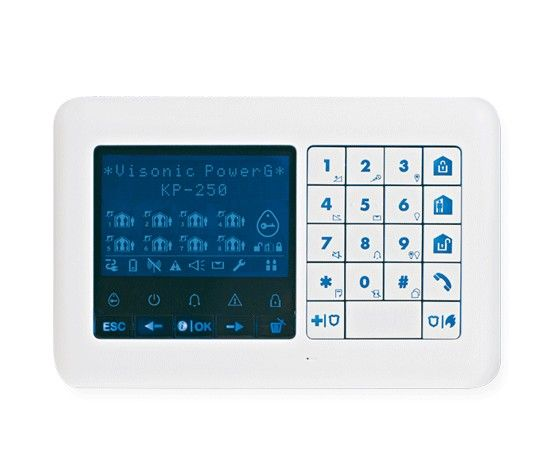 KP-250 PG2 Wireless 2-way Code control panel suitable for the Powermaster series. It is specially designed for the Powermaster 33 but also works with the Powermaster 10 and 30 series. This system is both with a number code, and with a proximity ...