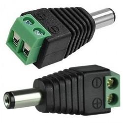 Connettore di alimentazione maschio servire potere o Videobalun, diverse cupole che nessun connettore di alimentazione / potenza standard è disponibile.