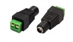 Connecteur d'alimentation femelle servant puissance ou videobalun, plusieurs dômes qui ne connecteur mâle / d'alimentation électrique standard est disponible.