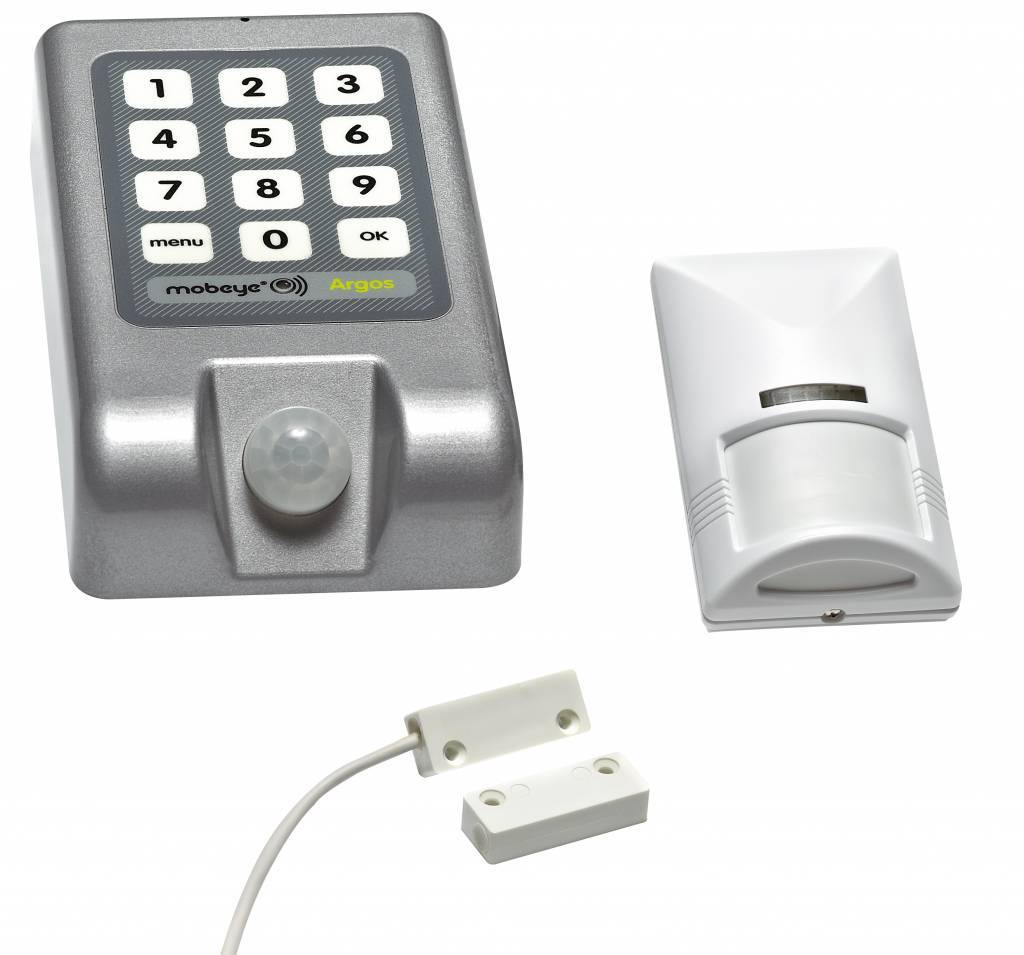 Suitable for the Mobeye Argos system. Low Power, wired, incl. 2 AAA batteries.