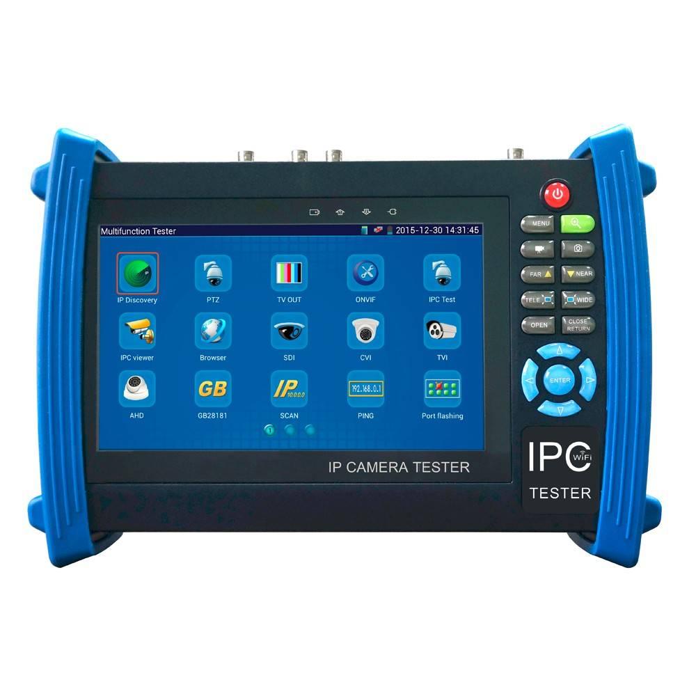 CCTV/ IP tester is een professionele, universele camera tester voor IP, HDTVI, HDCVI, AHD en CVBS analoge camera's.<br /> <br /> Dit model, met Android besturingssysteem, beschikt over onder meer over een kabeltester, een PoE uitgang, WiFi, een ...