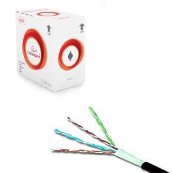 Network cable CAT6 UTP, 305 m in handy box, smooth gray cable. Suitable for IP cameras.