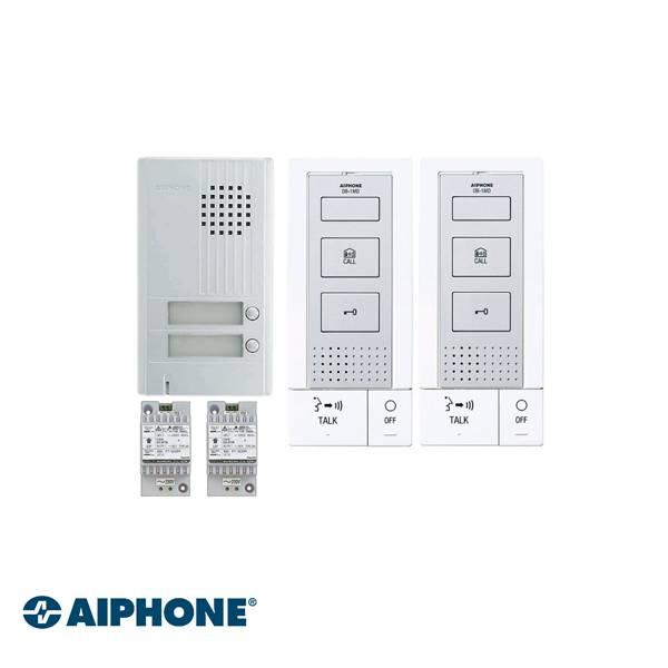 Incluso DB-1MD x 2, DA-2DS x 1, PT-121DR x 2. Completamente a 2 fili, inclusa la serratura elettrica. Non richiede un'alimentazione supplementare per il funzionamento dell'apriporta.