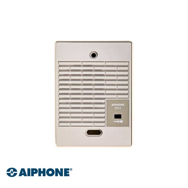 Power supply along the post ABS housing Repeat call (ringing tone) with volume control Internal installation Dimensions: 120 (H) x 88 (W) x 29 (D) mm